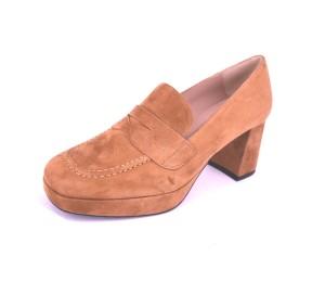 Zapato mujer ante tierra tacón grueso