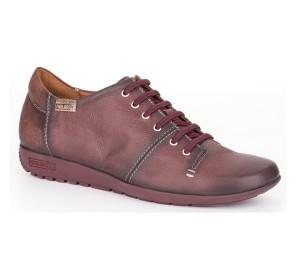 Zapato Lisboa cordones mujer piel arcilla plano