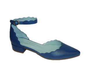 Zapato mujer piel guantino iris cinta tobillo