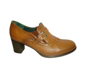 Zapato mujer piel rush cuero tacón