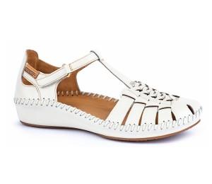 Vallarta zapato mujer piel nata velcro