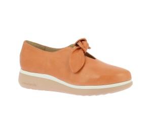 Zapato casual mujer piel sauvage salmón