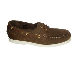 Zapato nautico hombre nobuck marrón