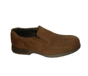 Zapato abotinado hombre piel engrasada marrón