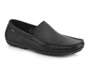 Zapato hombre piel dublin negro elásticos