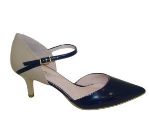 Zapato puntero mujer piel pacifico/stone talonera