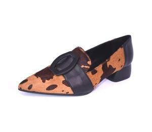 Zapato mujer piel estampado animal