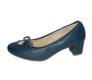 Zapato salón mujer piel búfalo marino