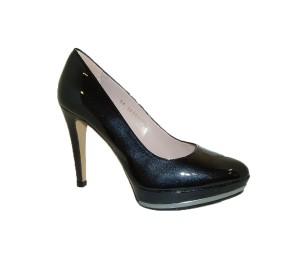 Zapato salón mujer piel miro negro plataforma