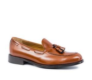 Zapato hombre piel cuero clásico adorno borlas piso cuero