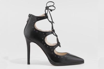 Fino Negro Zapato Mujercomprar Tacón Bdcxoe Piel Salón Abotinado sQCdtrxhB